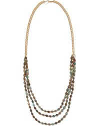 Chan Luu - Brown Gold-tone Stone Necklace - Lyst