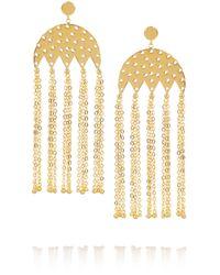 Arme De L'Amour Metallic Gold-plated Earrings