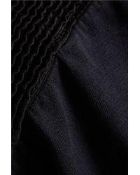 Balmain - Black Embroidered Cotton T-shirt - Lyst