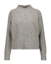 Rebecca Minkoff Gray Banga Merino Wool-blend Sweater