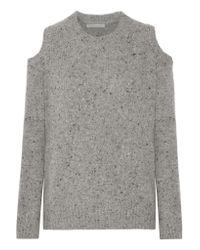 Rebecca Minkoff Gray Paige Cutout Wool-blend Sweater