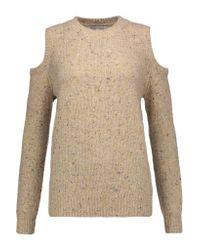 Rebecca Minkoff Black Paige Cutout Merino Wool-blend Sweater