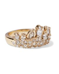 Alexis Bittar - Metallic Gold-tone Crystal Ring - Lyst