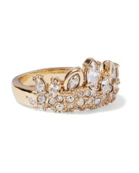 Alexis Bittar | Metallic Gold-tone Crystal Ring | Lyst