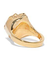 Dara Ettinger - Metallic Gold-plated Stone Ring - Lyst