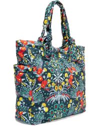 Marc By Marc Jacobs Blue Tate Floral-print Quilted Shell Tote