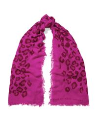 Marc By Marc Jacobs | Multicolor Sasha Leopard-print Modal And Cashmere-blend Scarf | Lyst