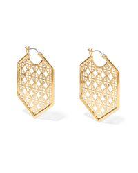 Tory Burch | Metallic Cutout Gold-tone Earrings | Lyst