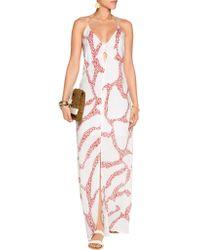 ViX - Pink Nora Printed Crepe Dress - Lyst