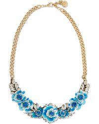 Shourouk | Metallic Rosa Capri Gold-tone, Crystal And Sequin Necklace | Lyst