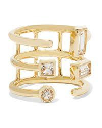 Elizabeth and James - Metallic - Gold-tone Sapphire Ring - Lyst
