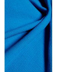 Roland Mouret - Blue Eugenie Open-back Wool-crepe Top - Lyst