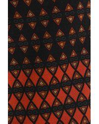 Etro Printed Stretch-wool Crepe Straight-leg Pants Orange