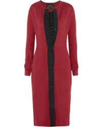 Vivienne Westwood Anglomania Nympha Ponte And Embroidered Tulle Dress