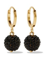 Isabel Marant - Metallic Gold-tone Crystal Earrings - Lyst
