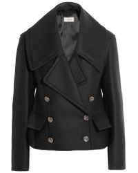 Temperley London | Black Esen Wool-blend Peplum Jacket | Lyst