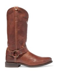 Frye | Brown Wyatt Distressed Leather Boots | Lyst