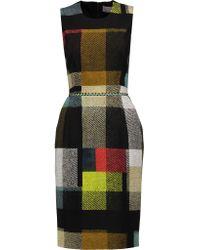 Preen By Thornton Bregazzi Multicolor Yvette Printed Stretch-woven Dress