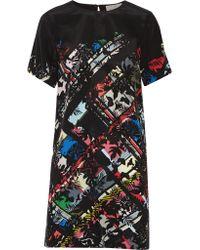 Preen By Thornton Bregazzi Multicolor Alma Printed Silk Crepe De Chine Mini Dress