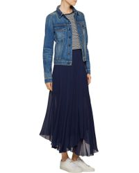 Étoile Isabel Marant - Blue Amery Chiffon Midi Skirt - Lyst