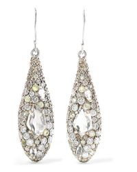 Alexis Bittar Metallic Silver, Quartz And Diamond Earrings