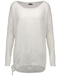 Splendid White Knitted Sweater