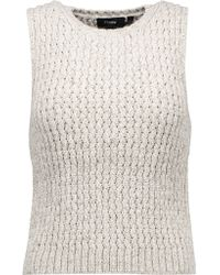 Theory | Natural Malda Meridian Stretch-knit Top | Lyst