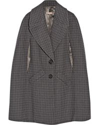 Michael Kors | Natural Houndstooth Melton Wool Cape | Lyst
