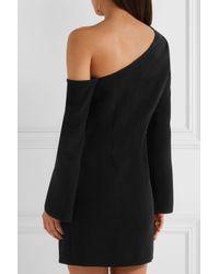 Rachel Zoe Black Harper One-shoulder Embellished Crepe Mini Dress