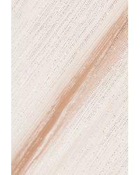 Roland Mouret Multicolor Brenner Textured-lamé Gown Platinum