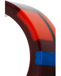 Marni - Red Resin, Gold-tone And Leather Bracelet - Lyst