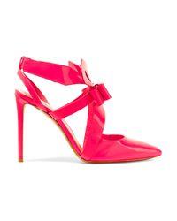 Nicholas Kirkwood Pink Bow-embellished Patent-leather Pumps