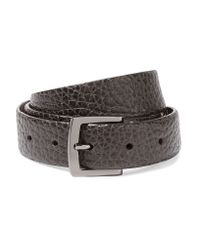 Brunello Cucinelli Gray Cracked-leather Belt