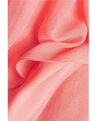 Elizabeth and James - Pink Mael Pleated Silk-chiffon Maxi Dress - Lyst