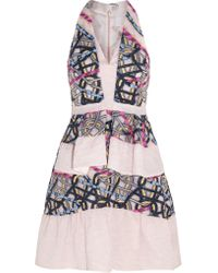 Peter Pilotto Multicolor Printed Silk-jersey Mini Dress