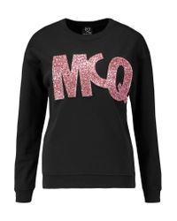 McQ Black Appliquéd Cotton-jersey Sweatshirt
