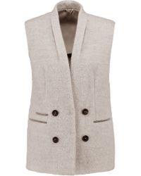 Brunello Cucinelli   Multicolor Embellished Alpaca And Wool-blend Vest   Lyst