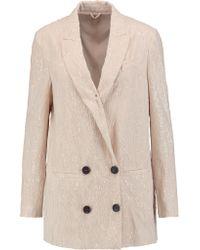 Brunello Cucinelli Multicolor Sequin-embellished Stretch-silk Chiffon Jacket