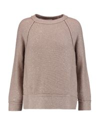 Brunello Cucinelli Multicolor Sequin-embellished Cashmere And Silk-blend Sweater