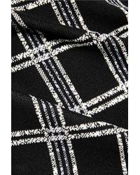 Proenza Schouler - Black Embroidered Ponte-knit Sweatshirt - Lyst