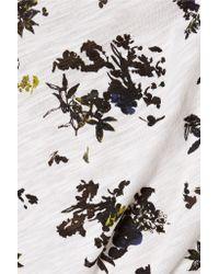 Proenza Schouler Black Printed Cotton Top