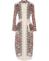 Saloni | Multicolor Molly Printed Silk-chiffon Midi Dress | Lyst