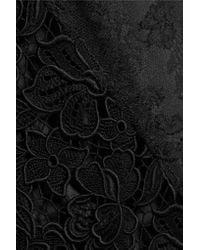 Rochas - Black Paneled Silk Dress - Lyst