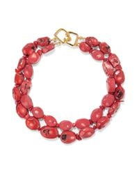 Kenneth Jay Lane | Multicolor Coral Bead Necklace | Lyst