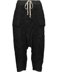 Rick Owens - Black Skirt-Style Wool-Blend Cropped Pants - Lyst
