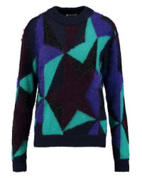 Vionnet Purple Paneled Knitted Sweater