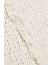 By Malene Birger - White Adunio Ribbed Cotton Skirt - Lyst