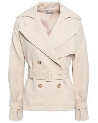 Vince Natural Double-breasted Canvas Trench Coat Beige