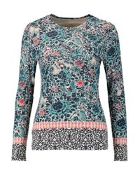 Tory Burch   Multicolor Jasmine Printed Pima Cotton-jersey Top   Lyst