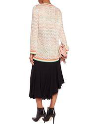 Missoni Natural Metallic Crochet-knit Top